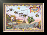 Map of Old Hawaii Print by Steve Strickland