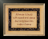 A House is Built Prints by Karen Tribett