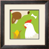 Farm Group: Hen and Dog Prints by Yuko Lau
