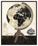 Vintage French Globe Prints by Devon Ross