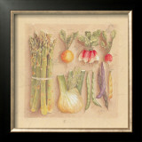 Vegetables I, Asparagus Art by Laurence David