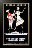 Italian Line, Central America Framed Giclee Print by Alda Sassi
