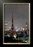 Tokyo Tower: Candlelight Event of One Million People Day I Print by Takashi Kirita
