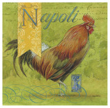 Napoli Rooster Posters by Angela Staehling