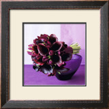 Bouquet of arum lilies Print by Mary Bartley