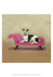 Italian Greyhound on Pink Lminas por Carol Dillon