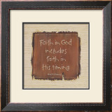 Faith in God Print by Karen Tribett