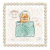 Pomeranian Puppy Purse Art by Chad Barrett