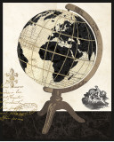Vintage French Globe Posters by Devon Ross