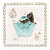 Teacup Pug Puppy Purse Prints by Chad Barrett