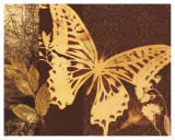 Gilded Butterfly History Prints by Matina Theodosiou
