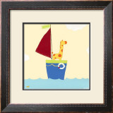 Sailboat Adventure I Print by Erica J. Vess