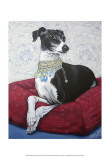 Italian Greyhound on Red Lminas por Carol Dillon