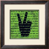 Peace Sign II Print by Sylvia Murray