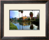Red Roof House on Canal Framed Giclee Print by Jack Heinz