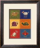 Six Petits Animals Prints by Raphaele Goisque