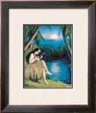 Hula Moon Framed Giclee Print