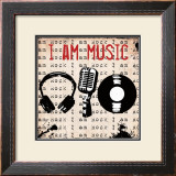 I Am Music Prints by Louise Carey