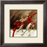 Dancing Ribbons Print by Kitty Meijering