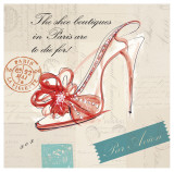 Paris Shoe Bow Art by Barbara Lindner