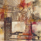 New York One Way Art by Sara Abbott