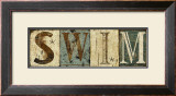 Weathered Swim Sign Prints by Marilu Windvand