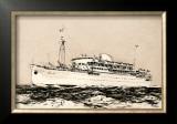 Mess Maritimes - Marechal Joffre Print by Albert Brenet