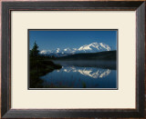Mt. McKinnley, Wonderlake, Alaska Framed Giclee Print by Charles Glover