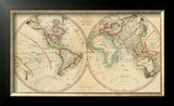 Map of the World, c.1820 Framed Giclee Print by John Melish
