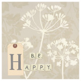 Be Happy Poster von Marco Fabiano