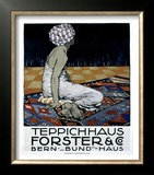 Teppichhaus Forster &amp; Co Framed Giclee Print by Burkhard Mangold