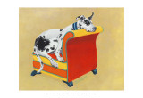 Great Dane on Orange Poster by Carol Dillon