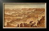 Grand Canyon: Panorama from Point Sublime (Part III. Looking West), c.1882 Framed Giclee Print by William Henry Holmes