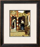 Dutch Courtyard of a House in Delft Framed Giclee Print by Pieter de Hooch