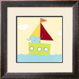 Sailboat Adventure IV Print by Erica J. Vess