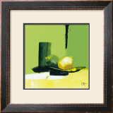 Green Glimmer Prints by Bernard Ott