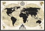 Carte du monde vintage Posters par Devon Ross