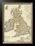 Iles Britanniques, c.1828 Framed Giclee Print by Adrien Hubert Brue