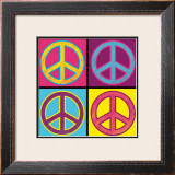 Peace in All Colors Poster by Louise Carey
