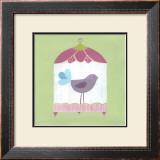Patchwork Birdcage I Prints by Erica J. Vess