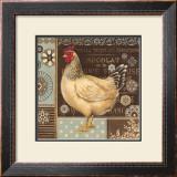 Aqua Rooster II Print by Kimberly Poloson