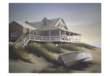 Dawn Beach Print by D.k. Gifford