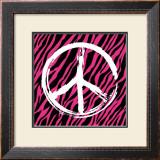 Zebra Peace Prints by Louise Carey