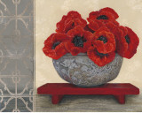 Red Velvet Blooms Prints by Colleen Sarah