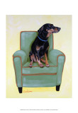 Dobie on Green Posters by Carol Dillon