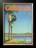 Santa Fe Railroad: California, Pacific Coastline and Spanish Mission Prints by Oscar M. Bryn