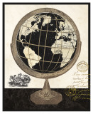 Antique French Globe Prints by Devon Ross