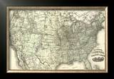 New Railroad Map of the United States and Dominion of Canada, c.1876 Framed Giclee Print by Warner &amp; Beers 