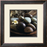 Bowl with Pebbles Poster by Jean-Michel Ruiz