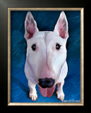Bull Terrier Bronson Poster by Robert Mcclintock